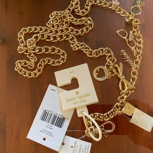 Kate Spade Chain Belt with Charms